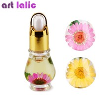Artlalic 1 Bottle 15mL Dry Dried Flowers Nourishment Oil Nail Cuticle Tools Nutritional Nail Polish Oil UV Gel Nail Treatment