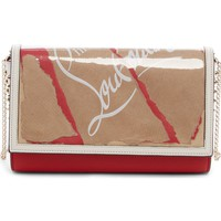 Christian Louboutin Paloma Kraft Leather Clutch | Nordstrom