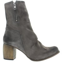 Jeffrey Campbell Slouchy - Grey Distressed Suede Dual-Zip Boot