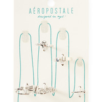 Aeropostale  Love Star Assorted Ring 6-Pack