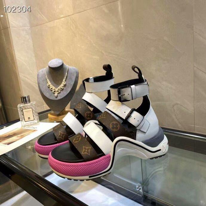 Image of lv louis vuitton women casual shoes boots fashionable casual leather women heels sandal shoes 15