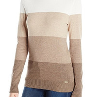 Calvin Klein Women's Latte Turtle Neck Sweater