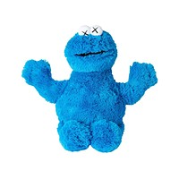 Kaws Sesame Street Uniqlo Cookie Monster Plush Toy Blue