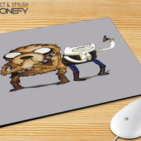 Star Wars Adventure Time Mousepad Mouse Pad|iPhonefy