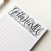 notepad - Gotta hustle, and cross things off