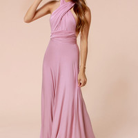LULUS Exclusive Tricks of the Trade Mauve Maxi Dress