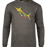 Men's Tribal Marlin L/S UV Fishing T-Shirt