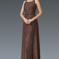 G2170 Lace High Neck Mother of the Bride Dress Evening Gown - Plus Sizes Available