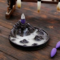 Ceramic Black Dragon Backflow Incense Burner
