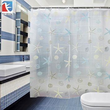 Feiqiong Brand PEVA Bathroom Shower Curtains Water Proof Bath Curtain scenic pattern 180X180CM Europe Modern Type High Quality