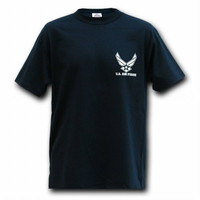 Rapid Dominance Classic Military T-Shirts US Air Force, Wing (Medium, Navy Blue)