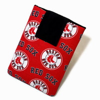 Tablet Case, iPad Cover, Boston Red Sox, MLB, Baseball, Kindle Fire Cover, 7, 8, 9, 10 inch Tablet Sleeve, Cozy, Handmade, FOAM Padding