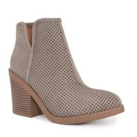 Gray Taryn Perforated Booties