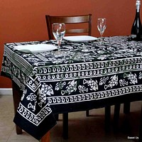 Cotton Marine Fish Print Tablecloth Rectangle Tapestry Wall Hang Bed Sheet Queen