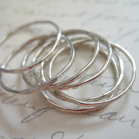Sterling Silver Stack Above KNUCKLE RINGS Stackable Stacking Rings, Links Connectors Circles, Set of 3, hot trend, wholesale - sr1