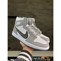 Dior x Air Jordan 1 High OG GPX  Running Sport Shoes Sneakers