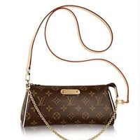 Louis Vuitton LV Women Shopping Leather Shoulder Bag Crossbody Satchel Purse I