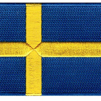 Sweden Flag Embroidered Patch Swedish Iron-On National Emblem