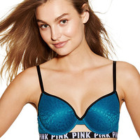 Leopard Lace Lightly Lined - PINK - Victoria's Secret