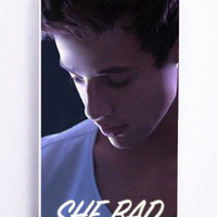 iPhone 5S Case - Rubber TPU Cover with Cameron Dallas She Bad To Number One Rubber Case Design