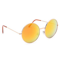 With Love From CA Round Flower Child Sunglasses at PacSun.com
