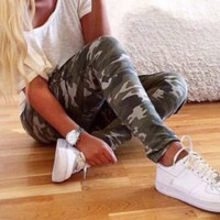 Army Green Camouflage Pants