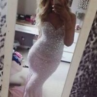 New Mermaid Formal Prom Dresses Party Ball Evening Pageant Wedding Gown