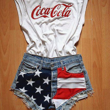 American Denim Shorts Light Wash High Waisted Low Waisted Americanza Shorts MADE TO ORDER