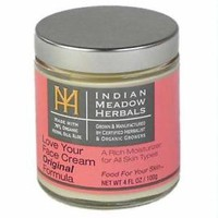 "Indian Meadow Herbals  ""Love your face""  cream moisturizer 4oz"