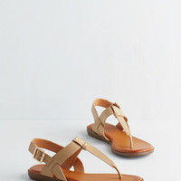 Nautical We've Yacht a Situation Sandal in Sand by ModCloth