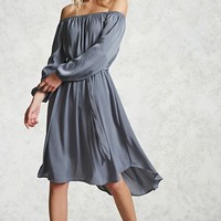 Contemporary Belted Satin Dress