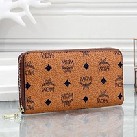 MCM Hot Sale Classic Long Coin Purse Wallet Card Holder Key Case Fashion Men's and Women's Hand Purses