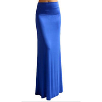 Bohemian Style Women Winter Long Cotton Skirts Autumn Casual Pencil Maxi Skirt Bandage Pleated