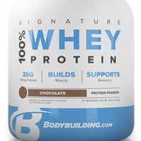 Bodybuilding.com Signature 100% Whey Protein at Bodybuilding.com - Best Prices on Signature 100% Whey Protein!