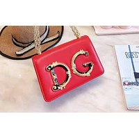 D&G stylish lady's monochrome large monogram shoulder bag hot seller of casual shopping bag White