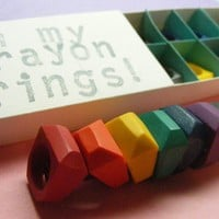 SIZE 7  Crayon Rings set of 8 by OhMyLuckyStar on Etsy