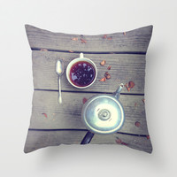 Morning Perk Throw Pillow by Olivia Joy StClaire