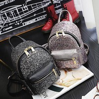 Miyahouse 2017 Mini Sequined Women Backpack Cute Fashion Shoulder Bag Portable PU Leather Backpack School Bags for Girls Mochila