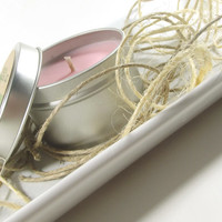 Soy Candle - Pink Lilac and Willow scented Soy Candle Tin -- 6 ounce Tin, Spring and Summer Scented Candle