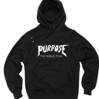 purpose the world tour bieber black color Hoodies