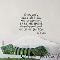 Kiss You One Direction - Wall Decal