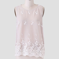 Empress Embroidered Blouse In Beige