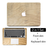 """Wood Texture Full Cover Skin Laptop Sticker for MacBook Air Pro Retina 11"""" 12"""" 13"""" 15 Protective Mac Computer Notebook Decal Set"""