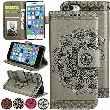 iPhone 7/8 Flip Cell Phone Cover Folio Magnetic Wallet Leather case