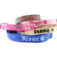 Personalized Dog Collar Add-on - Monogrammed Dog Collar - Dog Collar with Name and Phone Number - Personalized Dog Leash