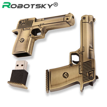 New RoseGold Sliver gun Genuine 4GB 8GB 16GB 32GB USB 2.0 stick pendrive flash drive metal usb flash high speed