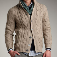 Cable-Knit Cardigan