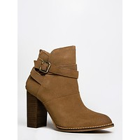 Zip It Buckled Ankle Bootie