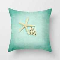 to the sea Throw Pillow by Sylvia Cook Photography | Society6