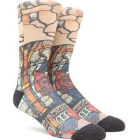 """""""New"""" Socks Cathedral Stained Glass Crew Socks - Mens Socks - Multi - One"""